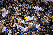 Fans watch as the Golden State Warriors host the Houston Rockets at Oracle Arena in Oakland, Calif., on October 17, 2017. (Stan Olszewski/Special to S.F. Examiner)
