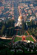 Israel, Haifa, The Bahai Gardens. The Shrine of the Bab
