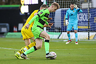 Forest Green Rovers Nathan McGinley(19) runs forward into the box during the The FA Cup 1st round match between Oxford United and Forest Green Rovers at the Kassam Stadium, Oxford, England on 10 November 2018.