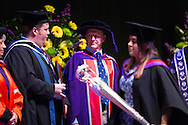 British Astronaut Tim Peake receives an Honorary Doctorate of Science Degree the University of Portsmouth at the Guildhall in the city.<br /> Earlier, Tim spent the day at the UK Space Agency Schools Conference hosted by the University.<br /> The conference celebrated the work of over a million UK school students inspired by Peake's Principia mission, which saw the flight dynamics and evaluation graduate spend more than six months on board the International Space Station.<br /> Youngsters had the chance to present their work through talks and exhibitions to experts from the UK Space Agency, European Space Agency (ESA), partner organisations and the space sector. Most also had the chance to meet Tim.<br /> Picture date Wednesday 2nd November, 2016.<br /> Picture by Christopher Ison for the University of Portsmouth.<br /> Contact +447544 044177 chris@christopherison.com