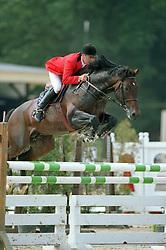 Bruyninx Guido (BEL) - Kannan<br /> BK jonge paarden Gesves 1999<br /> Photo © Dirk Caremans