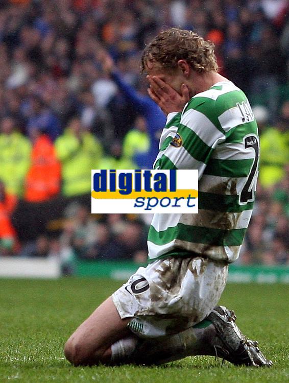 Photo: Paul Thomas.<br /> Glasgow Celtic v Glasgow Rangers. Bank of Scotland Scottish Premier League. 11/03/2007.<br /> <br /> Jiri Jarosik of Celtic shows his frustration.