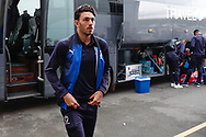 Wimbledon defender Will Nightingale (5) arriving during the EFL Sky Bet League 1 match between Shrewsbury Town and AFC Wimbledon at Greenhous Meadow, Shrewsbury, England on 2 March 2019.
