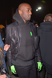 Virgil Abloh arriving at the Celine Menswear Fall/Winter 2019-2020 show as part of Paris Fashion Week on January 20, 2019 in Paris, France. Photo by Julien Reynaud/APS-Medias/ABACAPRESS.COM