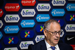March 26, 2019 - Oslo, NORWAY - 190326 Lars Lagerbäck, head coach of Norway, during the press conference after the UEFA Euro qualifier football match between Norway and Sweden on March 26, 2019 in Oslo..Photo: Mathias Bergeld / BILDBYRÃ…N / Cop 200 (Credit Image: © Mathias Bergeld/Bildbyran via ZUMA Press)