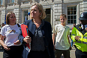 Amber Rudd MP, Work and Pensions Secretary  leaving the Cabinet office in Whitehall, London, United Kingdom on 22nd August 2019.