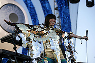 19th April 2009. Indio, California. Musician Karen O of the Yeah Yeah Yeahs, on stage at the Coachella Music Festival..PHOTO © JOHN CHAPPLE / REBEL IMAGES.tel +1 310 570 9100    john@chapple.biz