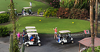 TENERIFE - buggy , wachten wachttijd, golfcar, starttijd, COSTA ADEJE GOLF. COPYRIGHT KOEN SUYK