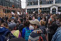 Black Lives Matter Protests. Seattle, Washington, USA. June 3, 2020.