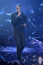 Stormzy performing at the Brit Awards 2018 Nominations event held at ITV Studios on Southbank, London.
