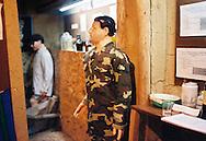 Mannequin dressed in military attire, an exhibit in the Museo de Coca- Cocaine Museum in La Paz, Bolivia