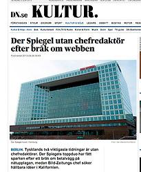 DN.se online newspaper; Der Spiegel headquarters in Hamburg