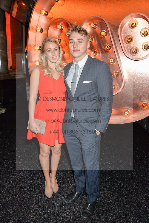 BEN HARDY and KATRIONA PERRETT at the Warner Music Group & Ciroc Vodka Brit Awards After Party held at The Freemason's Hall, 60 Great Queen St, London on 24th February 2016.