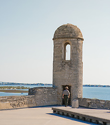 guard at Castillo De San Marcos<br />