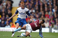 Credit: Back Page Images. Aston Villa v Crystal Palace, FA Premiership, 25/09/2004. Nolberto Solano (Aston Villa) and Ben Watson (Crystal Palace) compete for the ball