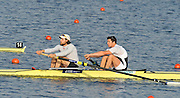 Eton, United Kingdom.   Men's pair Rep,  Bow Greg SEARLE and Tom RANSLEY, move away from the start at the 2012 GB Rowing Senior Trials, Dorney Lake. Nr Windsor, Berks.  Saturday  10/03/2012  [Mandatory Credit; Peter Spurrier/Intersport-images]
