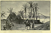 The Nile from Luxor. The two woman in the foreground wear the ordinary BURKO [burka] or viel to the head-dress by a piece of cane placed between the eyes  Wood engraving from 'Picturesque Palestine, Sinai and Egypt' by Wilson, Charles William, Sir, 1836-1905; Lane-Poole, Stanley, 1854-1931 Volume 4. Published in 1884 by J. S. Virtue and Co, London