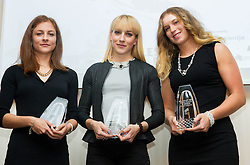 Liona Rebernik, Maja Bratkic and Barbara Spiler during the Slovenia's Athlete of the year award ceremony by Slovenian Athletics Federation AZS on November 8, 2013 in Grand Hotel Toplice, Bled, Slovenia. Photo by Vid Ponikvar / Sportida