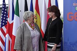 October 9, 2018 - Lyon, France - Jacqueline Gourault  avec une Representante de la secretaire americaine a la securite interieure Kirstjen Nielsen (Credit Image: © Panoramic via ZUMA Press)