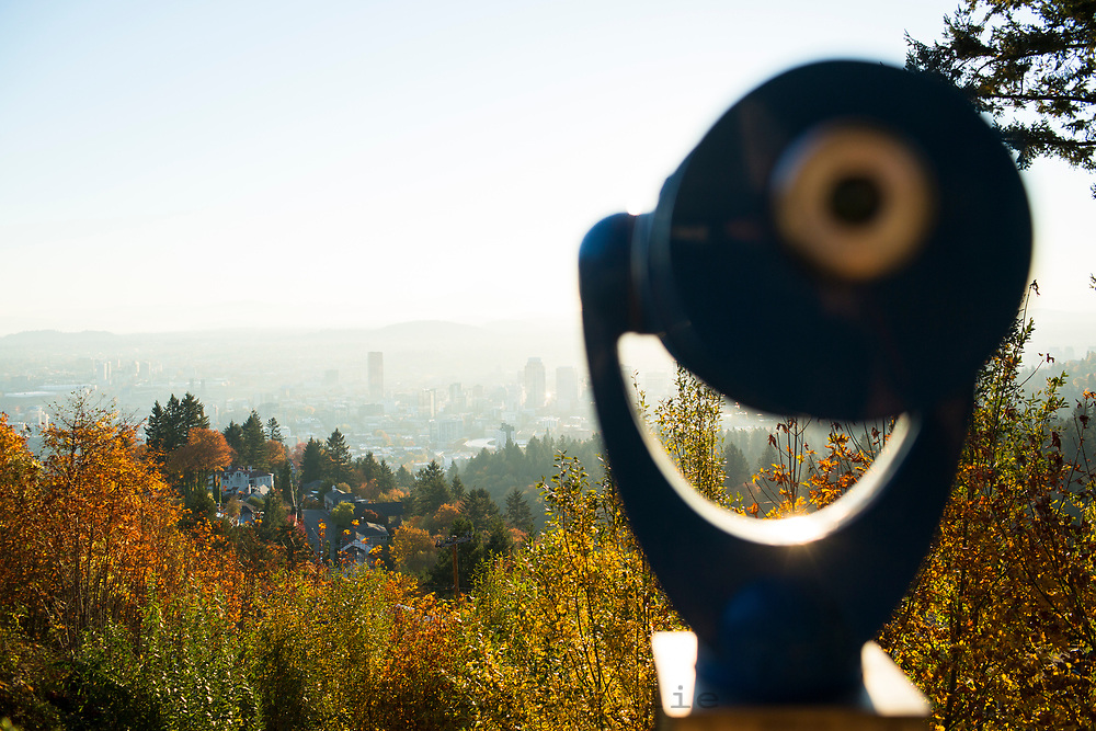 View of Portland, Oregon from the Pittock Mansion.