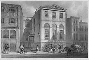 Cordwainer's Hall, Distaff Lane, engraving 'Metropolitan Improvements, or London in the Nineteenth Century' London, England, UK 1828 , drawn by Thomas H Shepherd