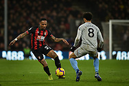 AFC Bournemouth Defender, Nathaniel Clyne (23) gets p[ast West Ham United Midfielder, Felipe Anderson (8) during the Premier League match between Bournemouth and West Ham United at the Vitality Stadium, Bournemouth, England on 19 January 2019.