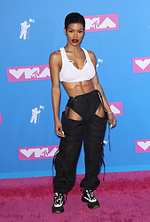 August 21, 2018 - New York City, New York, USA - 8/20/18.Teyana Taylor at the 2018 MTV Video Music Awards held at Radio City Music Hall in New York City..(NYC) (Credit Image: © Starmax/Newscom via ZUMA Press)