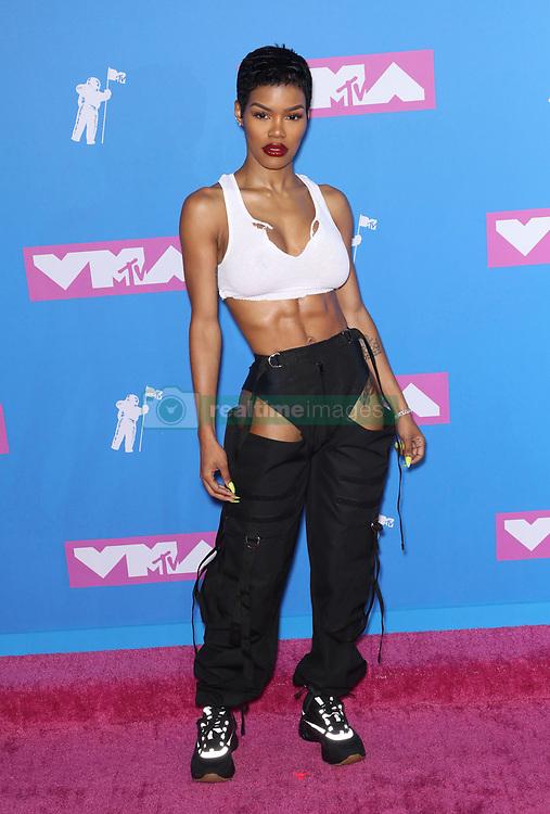 August 21, 2018 - New York City, New York, USA - 8/20/18.Teyana Taylor at the 2018 MTV Video Music Awards held at Radio City Music Hall in New York City..(NYC) (Credit Image: © Starmax/Newscom via ZUMA Press)