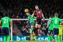 Shane Long of Southampton and Simon Francis of Bournemouth head the ball - Mandatory by-line: Jason Brown/JMP - Mobile 07966 386802 01/03/2016 - SPORT - FOOTBALL - Bournemouth, Vitality Stadium - AFC Bournemouth v Southampton - Barclays Premier League
