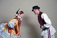 Croatian folk costume from Bizovac in Slavonia. LADO (Croatian National Folk Dance Ensemble), Zagreb, Croatia © Rudolf Abraham