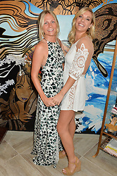 Left to right, MADDIE CHESTERTON and CHELSY DAVY at the launch of AYA jewellery by Chelsy Davy held at Baar & Bass, 336 Kings Road, London on 21st June 2016.