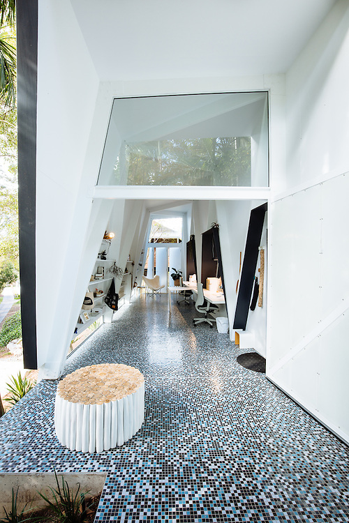 Domestic workspace designed by Marc & Co in Brisbane.