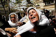 The mother of Kaldon Abu Jarad, who died from the clash between Palestinian youths and Israeli troops, react in disbelief at the house in Beit Lahia, Gaza Strip. Death toll is rising from the clashes in Beit Lahia, a refugee camp bordering three Jewish settlements.