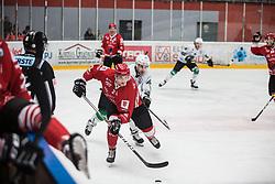 STOJAN Nejc of HDD SIJ Jesenice vs Nik SIMSIC of HK SZ Olimpija during Alps League Ice Hockey match between HDD SIJ Jesenice and HK SZ Olimpija on December 20, 2019 in Ice Arena Podmezakla, Jesenice, Slovenia. Photo by Peter Podobnik / Sportida