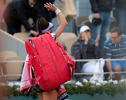 May 28, 2019 - Paris, FRANCE - Ajla Tomljanovic of Australia in action during her first-round match at the 2019 Roland Garros Grand Slam tennis tournament (Credit Image: © AFP7 via ZUMA Wire)