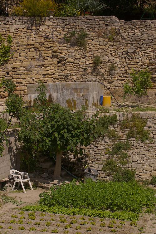 Southern France Gardens, Aubai Medieval Village, Hillside Buildings