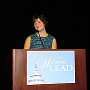Sarah Fluke speaks at a DCCC luncheon during the 2012 Democratic National Convention