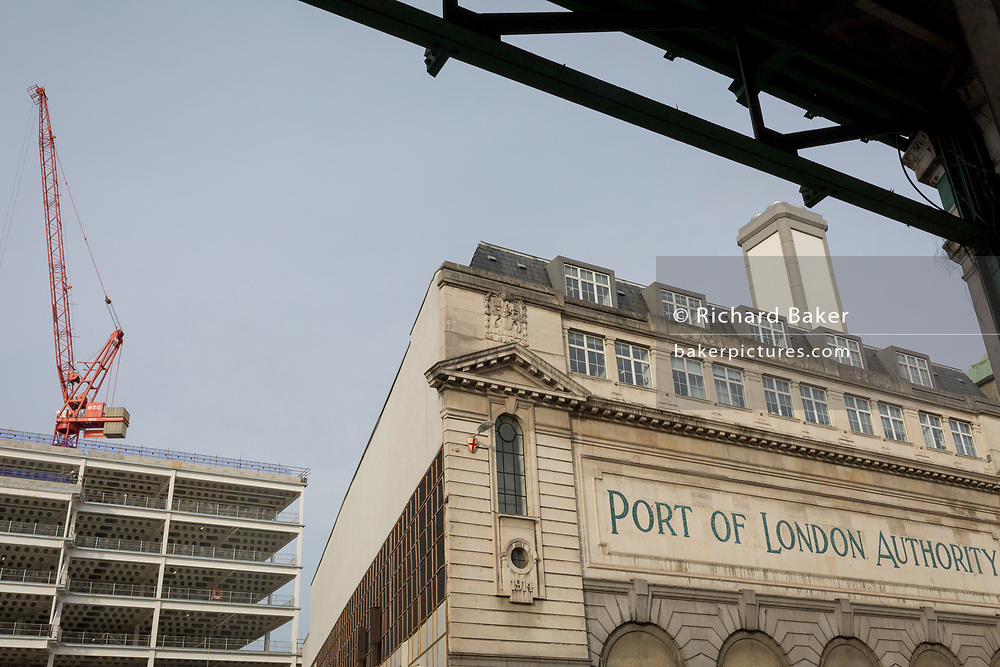 An urban landscape of the Port of London's businesses in the former Smithfield meat market, on 20th November 2019, at Smithfield in the City of London, England. There has been a market on this location since the Bartholomew Fair was established in 1133 by Augustinian friars.
