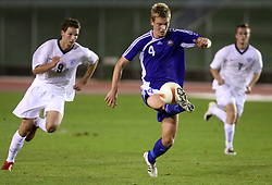 Jonas Portin of Finland during the Qualifications for UEFA U-21 EC 2009 soccer match between Slovenia and Finland at Velenje stadion At lake, on September 9,2008, in Velenje, Slovenia.  (Photo by Vid Ponikvar / Sportal Images)