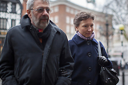 © licensed to London News Pictures. London, UK 27/02/2013. Marina Litvinenko, widow of Russian spy Alexander Litvinenko arriving at the Royal Courts of Justice in London for a pre-inquest hearing in to the death of her husband on Wednesday 27 February 2013. Photo credit: Tolga Akmen/LNP