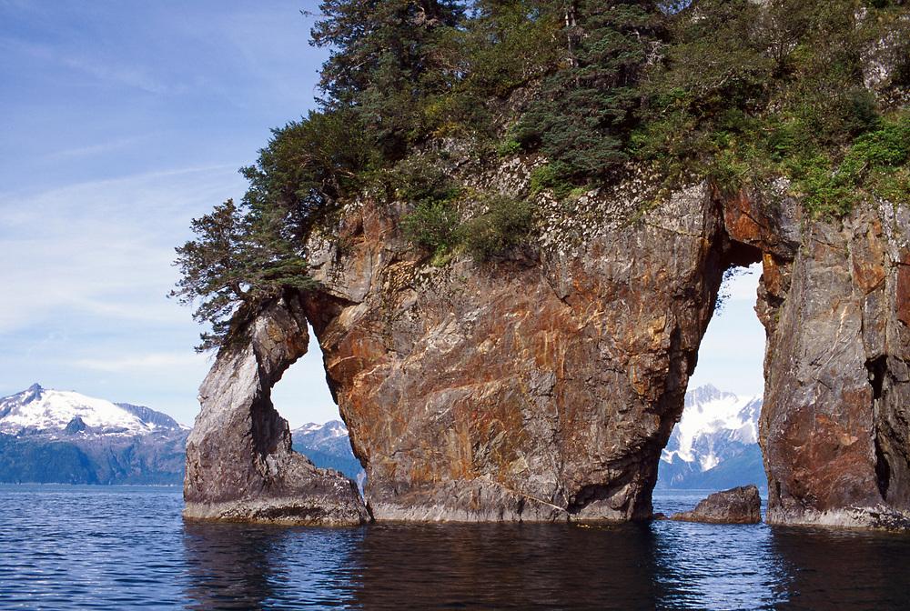 Alaska, Kenai Fjords National Park, Kenai Fjords, National Park, Aialik Bay, Window rock, Three hole point, Three-hole point,