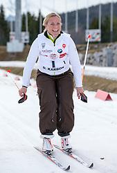 22.03.2014, Gschwandtkopf, Seefeld, AUT, 8. World Star Ski Event, Star Team for Children, Biathlon, im Bild Denis Carbon (Weltmeisterin Ski Alpin) // during the Biathlon of Star Team for Children of 8th World Star Ski Event at the Gschwandtkopf course in Seefeld, Austria on 2014/03/22. EXPA Pictures © 2014, PhotoCredit: EXPA/ Johann Groder