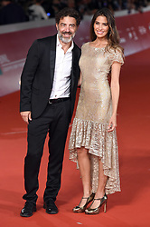 Christian Marazziti and Ariadna Romero during the red carpet for The House With A Clock in its Walls premiere at the Rome Film Fest on October 19, 2018