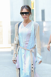 Victoria Beckham wears a sheer dress while leaving her hotel in NYC. 18 Jun 2018 Pictured: Victoria Beckham. Photo credit: MEGA TheMegaAgency.com +1 888 505 6342