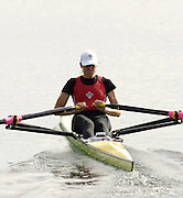 Munich, GERMANY, 2006, FISA, Rowing, World Cup, CAN LW1X, Tracy Cameron, held on the Olympic Regatta Course, Munich, Thurs. 25.05.2006. © Peter Spurrier/Intersport-images.com,  / Mobile +44 [0] 7973 819 551 / email images@intersport-images.com.[Mandatory Credit, Peter Spurier/ Intersport Images] Rowing Course, Olympic Regatta Rowing Course, Munich, GERMANY