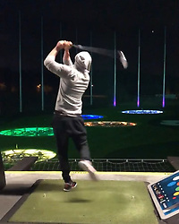 """Justin Timberlake releases a photo on Instagram with the following caption: """"IT\u2019S ALL IN THE HIPS #happygilmore"""". Photo Credit: Instagram *** No USA Distribution *** For Editorial Use Only *** Not to be Published in Books or Photo Books ***  Please note: Fees charged by the agency are for the agency's services only, and do not, nor are they intended to, convey to the user any ownership of Copyright or License in the material. The agency does not claim any ownership including but not limited to Copyright or License in the attached material. By publishing this material you expressly agree to indemnify and to hold the agency and its directors, shareholders and employees harmless from any loss, claims, damages, demands, expenses (including legal fees), or any causes of action or allegation against the agency arising out of or connected in any way with publication of the material."""