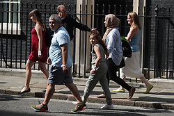 June 17, 2017 - London, Greater London, UK - London, UK. Victims and relatives of those affected by the Grenfell Tower fire in Kensington come to Downing Street to meet Theresa May  (Credit Image: © Joel Goodman/London News Pictures via ZUMA Wire)