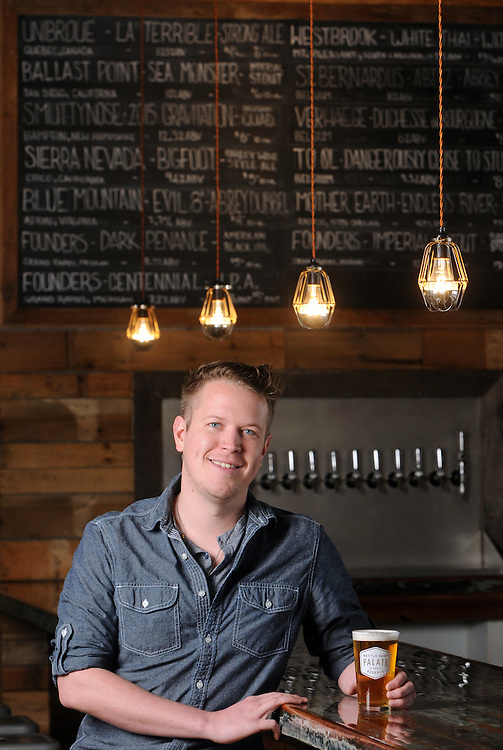General Manager Andrew Bopes, photographed at Palate Bottle Shop & Reserve in Wilmington, NC on Tuesday, March 31, 2015. Staff Photo by Mike Spencer/StarNews