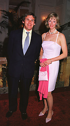 MRS ZARA DRAX sister of Tiggy Legge-Bourke and MR CHARLES GORDON-WATSON, at a party in London on 26th May 1999.MSN 54