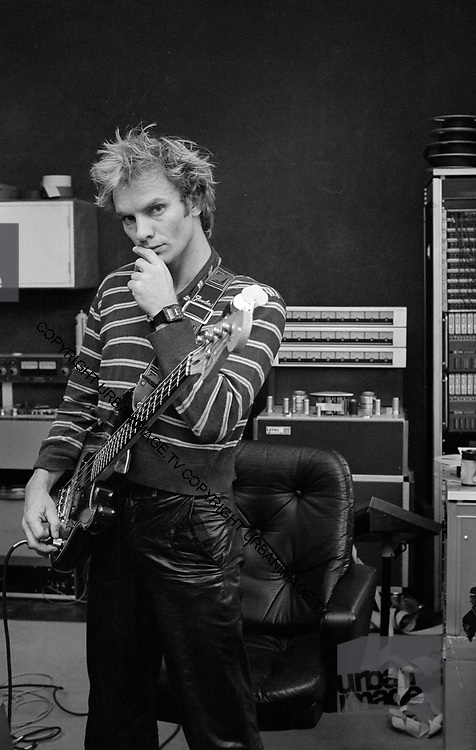 Sting backstage at soundcheck The Police The Secret Policeman's ball 1981